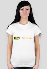 Koszulka damska z logo e-biotechnologia.pl