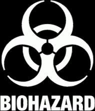 Koszulka męska czarna - BIOHAZARD