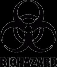 Koszulka czarno-biała męska - BIOHAZARD