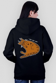 rude -rw-rw-rw hoodie czarne