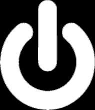 Power Button - biały nadruk