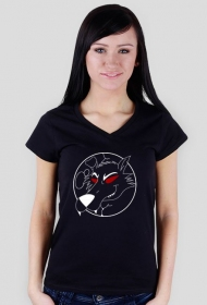 Moon wolf - black t-shirt