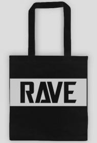 Black cotton bag RAVE.
