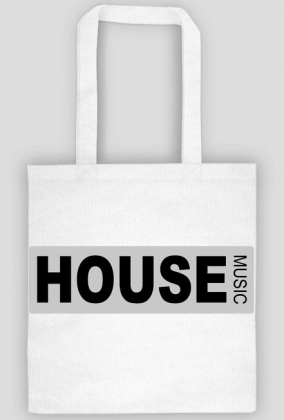 Black cotton bag HOUSE MUSIC.