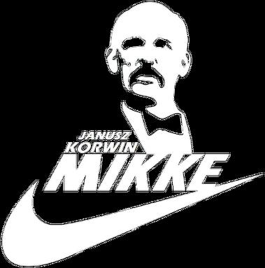Korwin Mikke - Just do it - NIKE czarna, damska