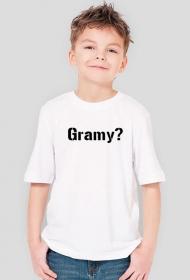 Fajna Koszula Na w-f z napisem Gramy?