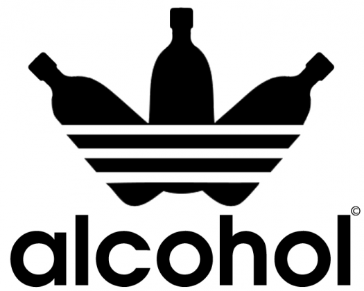 alcohol jak adidas White Tank Bokserka