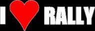 I love rally (bluza dla kobiet, czarna)