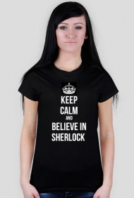 believe in sherlock czarna