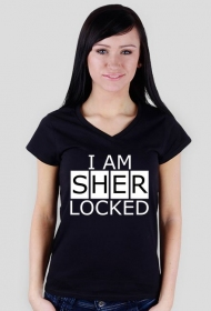 Sherlocked - damska V-neck