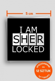 I am Sherlocked - 12 stickers