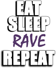 Koszulka damska - Eat, sleep, rave, repeat