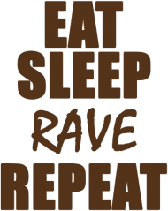 Bluza damska - Eat, sleep, rave, repeat