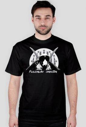 Koszulka czarna z nadrukiem Fulcrum Driver