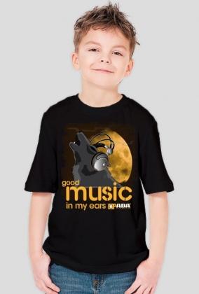Koszulka dla chłopca - Wilk. Pada