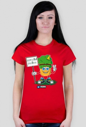 Koszulka damska - Przynoszę pokój. Pada