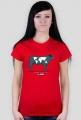 Koszulka damska - Krowa. Pada