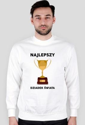 """Bluza meska biala """"Najlepszy Dziadek Swiata"""""""