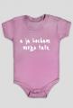 """Body niemowlęce """"A ja kocham mego tatę"""" - biały napis"""
