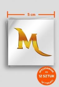 """""""M"""" - naklejka"""