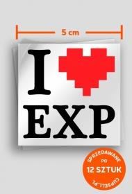 """""""I LOVE EXP"""" - naklejki"""