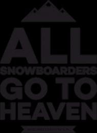 Koszulka dla chłopca - ALL SNOWBOARDERS GO TO HEAVEN