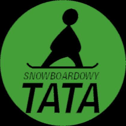 Poszewka na poduszkę - SNOWBOARDOWY TATA LOGO