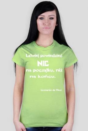 Koszulka - Leonardo da Vinci damska