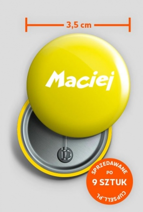 Przypinka Maciej
