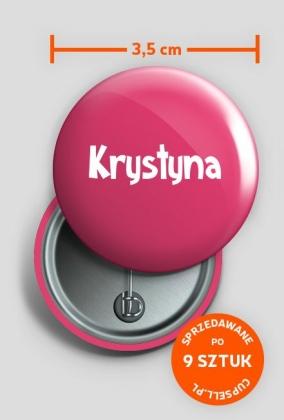 Przypinka Krystyna