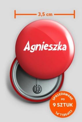 Przypinka Agnieszka