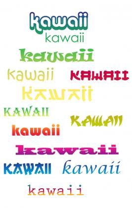Kawaii - Koszulka z japonskimi slowkami