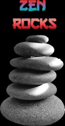 Zen Rocks Black - Koszulka z japońskim motywem