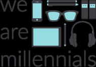 We are millennials - męska bluza mp3