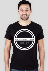 Nie podrywaj mnie - męski t-shirt slim
