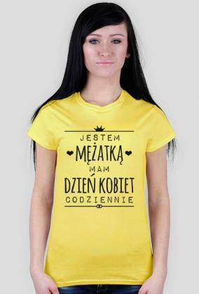 Dzień Kobiet mężatki - damski t-shirt