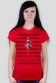 Panna z mokrą głową - damski t-shirt