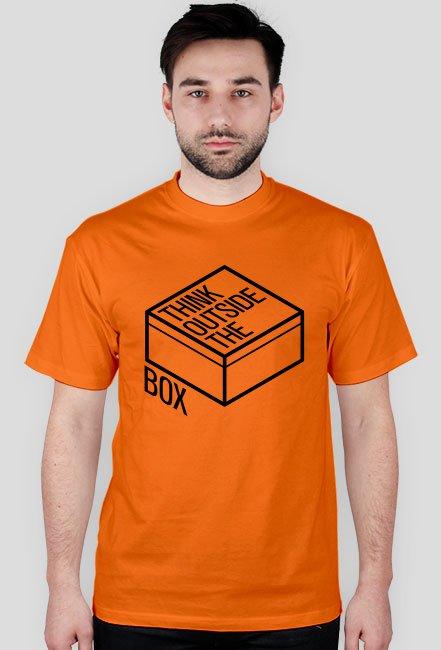 f026d81a3b7351 Koszulka - Think outside the box - dziwneumniedziala.com - koszulki ...