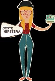 Koszulka damska - Jestę hipsterą - koszulki nietypowe, śmieszne - chcetomiec.cupsell.pl