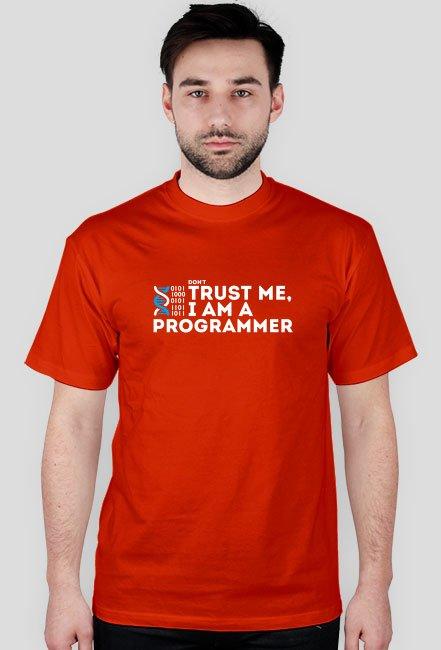 Koszulka - don't trust me, i am a programmer - dziwneumniedziala.com - koszulki dla informatyków