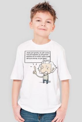 Koszulka dziecięca - Einstein z cytatem 01