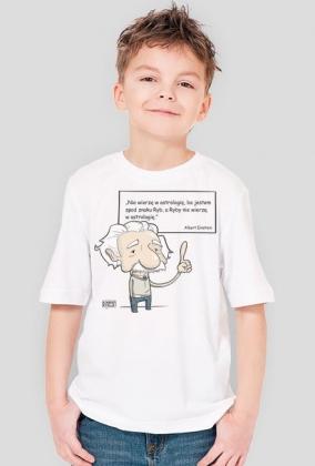 Koszulka dziecięca - Einstein z cytatem 02