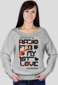 """Bluza damska Favourite """"Radio FTB Love' - dwie wersje kolorystyczne"""