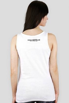 "Koszulka bokserka damska Radio FTB On Tour"" - biała"