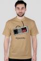 Nintendo geek - koszulka dla gracza - męska