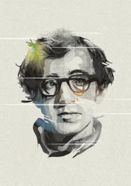 Woody Allen portrait design
