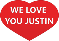 Przypinki We Love You Justin!