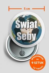 Przypinka z logo Świat Seby