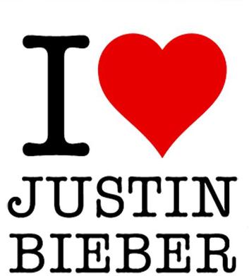 I love Justin Bieber poduszka
