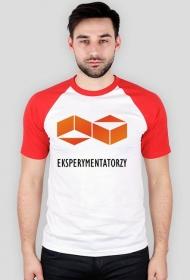Grupy EKSPERYMENTATORZY - koszulka z czerwonymi rękawami